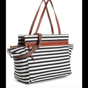 DSW: Striped Overnight Bag